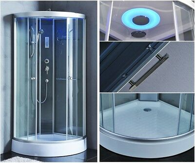 900x900mm Modern Shower Room Cubicle Enclosure Cabin FULLY ENCLOSED 90x90