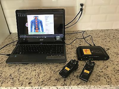 Myovision 3G wireless static sEMG Chiropractor System and Laptop