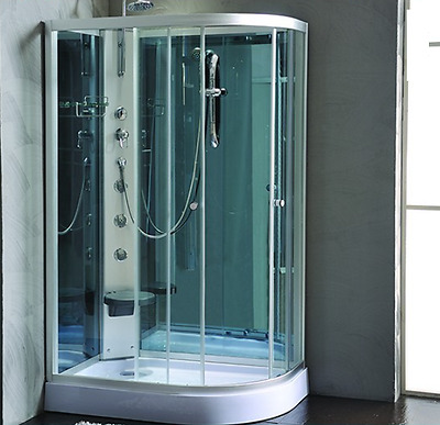 1200x800mm Modern Large Shower Room Cubicle Enclosure Cabin WITH MASSAGE JETS