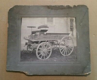 Motorized Wagon,Electric?,Extremely Early VINTAGE Photo,1900's