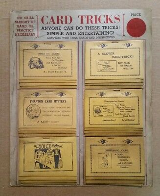 """""""Card Tricks"""",Complete Store Display Board,1930's"""