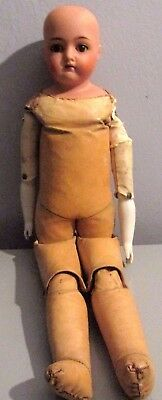 "Antique Kammer & Reinhardt 22"" Bisque Head Doll Leather Jointed Body"
