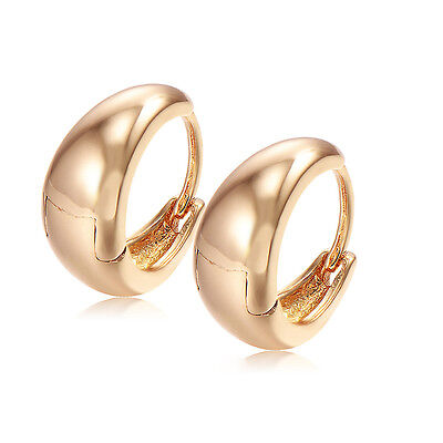 Child Safety Baby Girl Smooth Hoop Earrings 14k Yellow Gold Filled Fashion