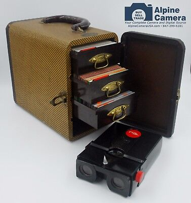 Stereo Realist Viewer w/3 Drawer Baja Case & Amazing Stereo 290 Slide Collection