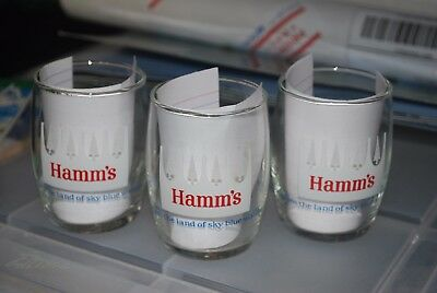 Hamms Beer Glasses(3) White pine logo