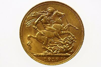 1917 Perth Mint Gold Full Sovereign in Extremely Fine Condition
