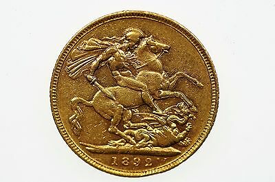 1892 Melbourne Mint Gold Full Sovereign in Very Fine Condition