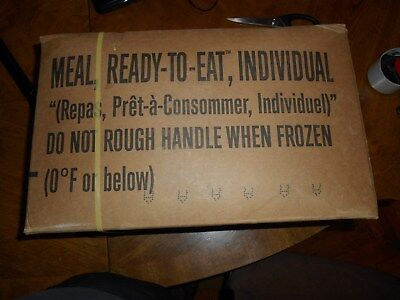 Military Spec MRE Case of 12 Meals Ready to Eat Case