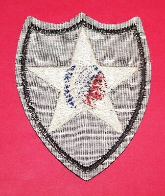 RARE ORIGINAL SMALL CUT-EDGE FELT WW2 STUDLEY 2nd INFANTRY DIVISION PATCH