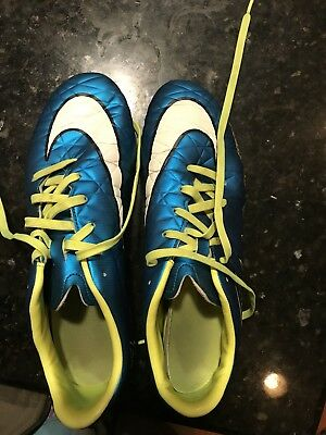 NIKE Womens Size 8.5 Mercurial Soccer Cleats Shoes Never Worn Blue Green