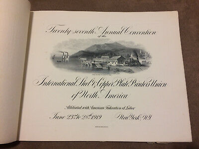 27th Annual Convention 1919 International Plate Printer Union of N.A.Booklet NY