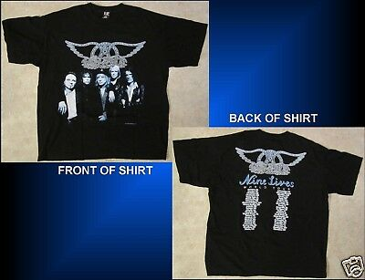 AEROSMITH Nine Lives World Tour Size XL Black T-Shirt