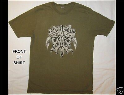 ALICE IN CHAINS 2007 Size Large Green T-Shirt