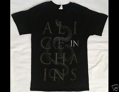 ALICE IN CHAINS Size Small Black T-Shirt