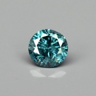 Rare! 0.09ct 2.7mm Round Brilliant Natural Fancy Blue Diamond