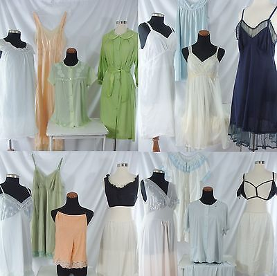24 Piece Vintage Clothing Lot Lingerie Slips Nightgowns plus size 40s 50s 60s