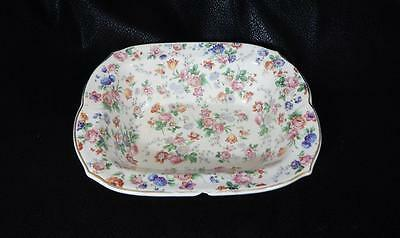 "Dorset-Cheery Chintz Erphila Porcelain 8"" Vegetable Bowl GERMANY FLAWED"