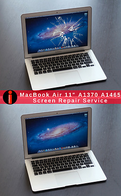 """Cracked LCD Screen Repair Replacement Service For Your Apple MacBook Air 11"""""""