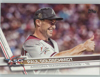 PAUL GOLDSCHMIDT 2017 Topps Update SP Photo Variation #US277 DIAMONDBACKS