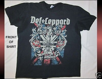 DEF LEPPARD Size XL Black T-Shirt