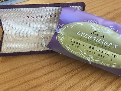 Vtg Eversharp PEN AND PENCIL Box Case WITH Warranty PAPERWORK