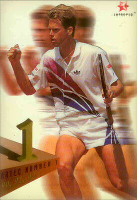 1996 Blitz Australia Tennis Trading Card Rated 1 Acetate Card R5 Stefan Edberg