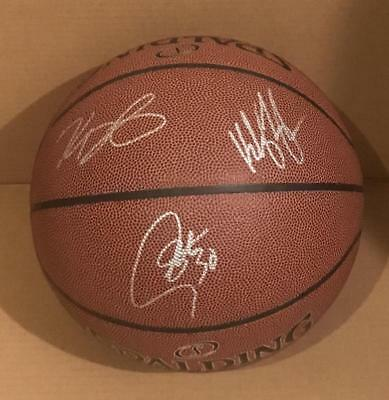 Stephen Curry Thompson Durant Signed Basketball Gs Warriors