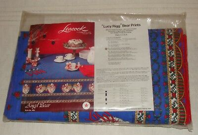 Lucy & Me Angel Bear Christmas Tablecloth - New