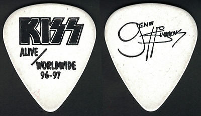 Kiss--Very Rare 1996 Reunion Tour Gene Simmons Guitar Pick! Alive Worldwide!