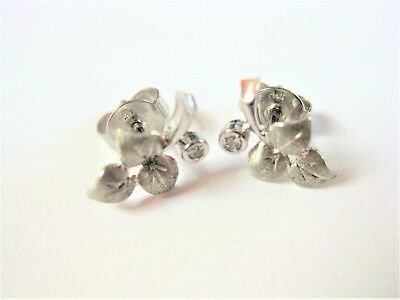 Stud Earring White Gold 585 with Brilant, 1,13 G