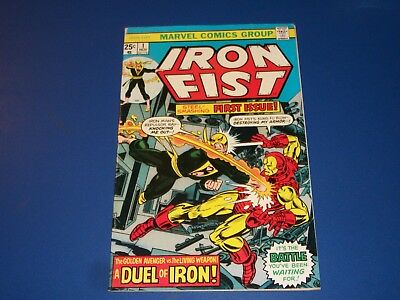 Iron Fist #1 Bronze Age Byrne Art Key Iron Man Cover Fine Beauty RARE WOW!