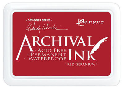 Ranger Archival Ink Stamp Pad - Red Geranium - Christmas Colour