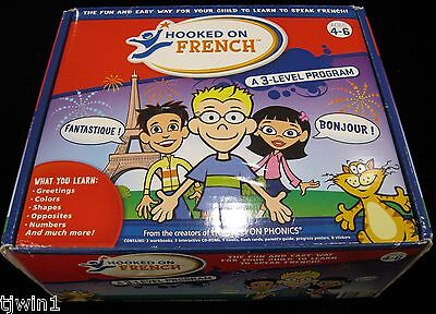 Hooked On French 3 Level Program For Ages 4-6 Opened But New And In Unused Shape