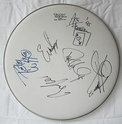 KISS authentic autographed DRUM HEAD signed X6 JSA GUARANTEED real signatures