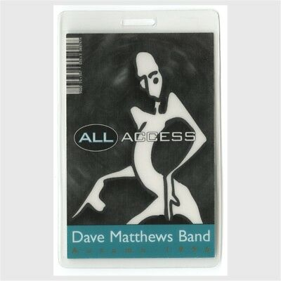 Dave Matthews Band authentic 1996 concert tour Laminated Backstage Pass original