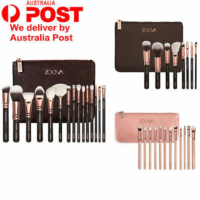 Pro Zoeva Cosmetic Powder Eyeshadow Complete Face Makeup Brush Zipper Bag Set