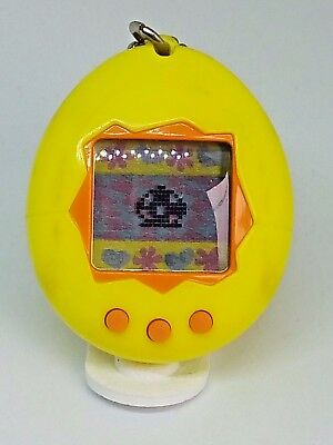 Tamagotchi Yellow English ver.1997  pocket game virtual pet  Tested and Working
