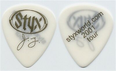 Styx James Young 2001 Styxworld concert tour issued signature band Guitar Pick
