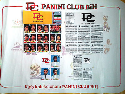 PANINI VALUE PACK FRANCE 98 IRAN + 3x RARE ENGLAND PLAYERS UNCUT SHEET PHOTOCOPY