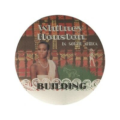 Whitney Houston authentic 1994 Bodyguard Tour South Africa Backstage Pass