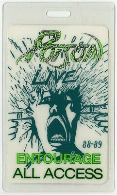 Poison authentic 1988 Laminated Backstage Pass Open Up and Say Ahh Tour AA