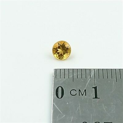 NATURAL CITRINE – 4.5mm Round Cut Brilliant Citrine Loose Gemstone – Free Post