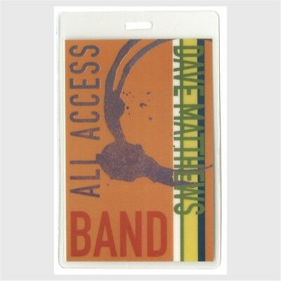 Dave Matthews Band authentic 1998 concert tour Laminated Backstage Pass original