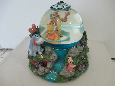 Winnie the Pooh and Tiger Raft Snowglobe Musical