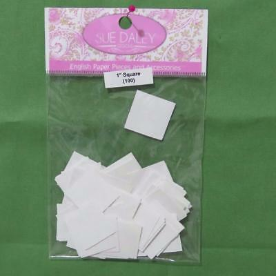 SUE DALEY - ENGLISH PAPER PIECING - SQUARES - 100 x PRE-CUT PAPERS -