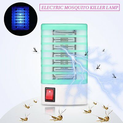 Electric Mosquito Killer Lamp Insect Pest Bug Zapper Repeller Blue Night Light