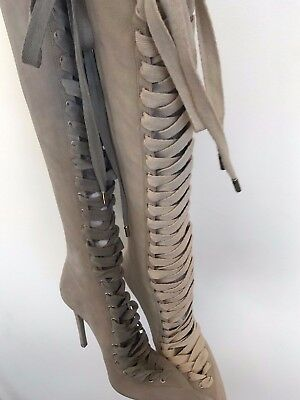 NEW ZIMMERMANN lace up sueded long boots elephant 37 38 39 40 41 tied up boot