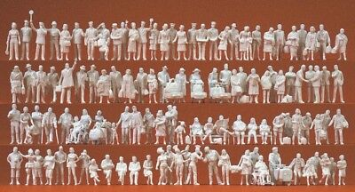 Preiser 16352 HO 1:87 120 Unpainted Figures At the Station - Brand New