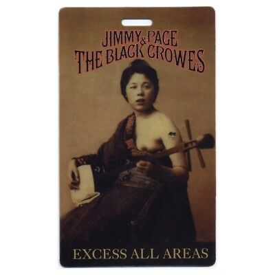 Jimmy Page authentic 2000 concert tour Laminated Backstage Pass The Black Crowes
