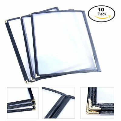 (10 pack) Double Fold Menu Cover For 8.5 x 11 inch 2 page , Restaurant Recipe